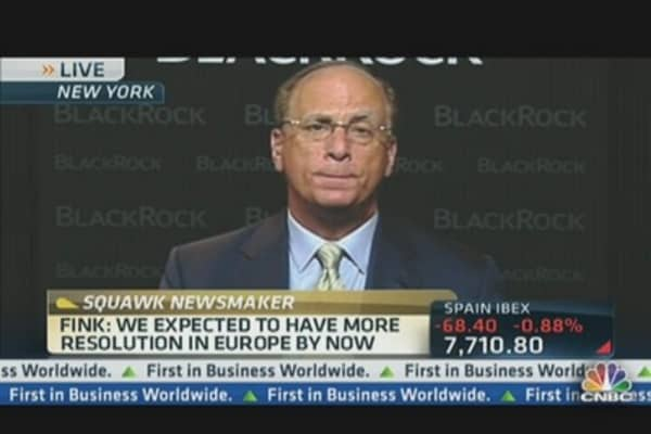 BlackRock's Fink: Take Profits ... Recession Risk