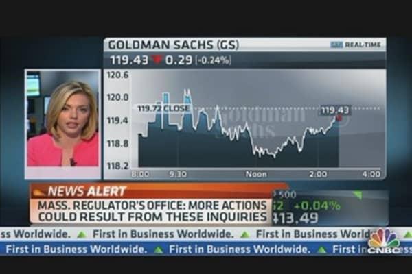 Mass. Regulator's Office Probing JPM, GS & MS