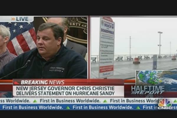 Gov. Christie on Sandy: 'Storm Has Mind of its Own'