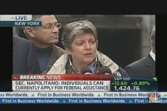 Napolitano Addresses NYC's Sandy Efforts