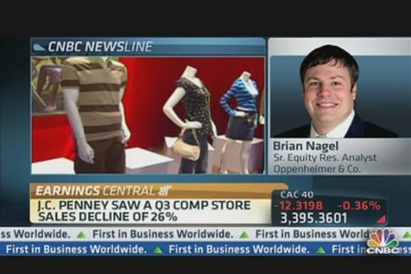 JC Penney Reports Q3 Loss of $0.93 Per Share Ex-Items