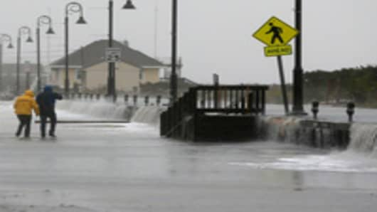 East Coast Takes a Beating as Sandy Nears Landfall