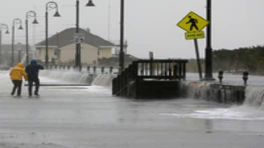 East Coast Takes a Beating as Sandy Nears Landfall