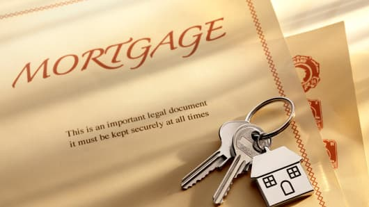 Mortgage document and keys