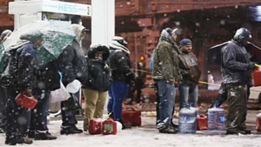 Gas Rationing Expands as Sandy, Nor'Easter Effects Linger