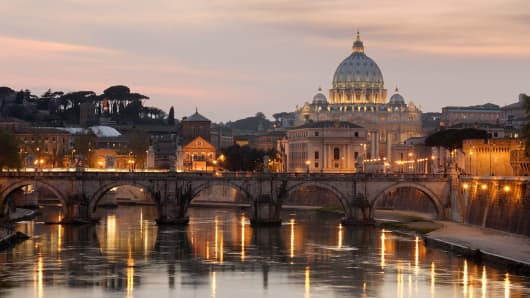 St. Peter's Basilica in Rome, Italy.