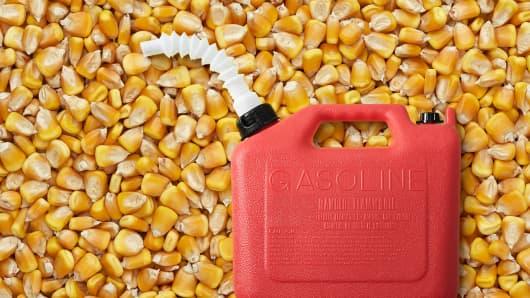 ethanol corn gas tank