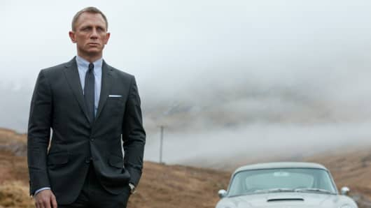 Actor Daniel Craig as James Bond in Skyfall.