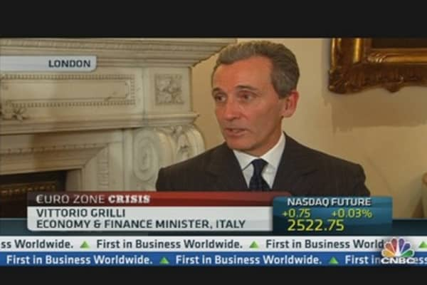 Italy Making Progress: Italy FinMin