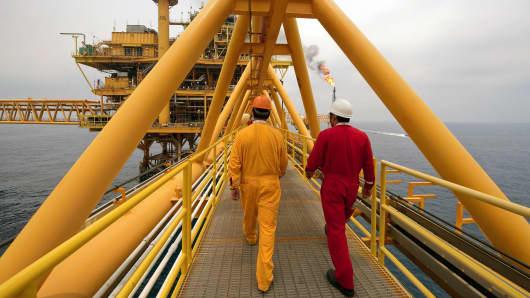 Mexico oil rig