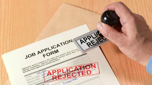 Job application form rejected