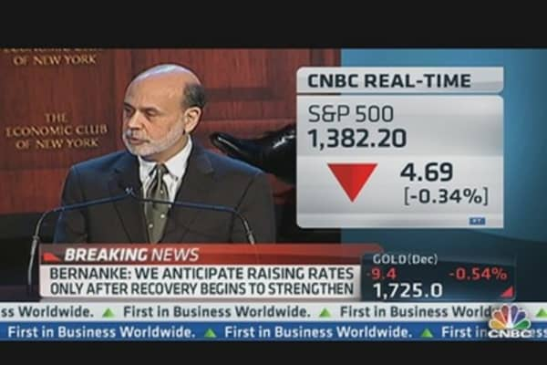 Bernanke: We Don't Have 'Tools' to Offset 'Cliff' Dive
