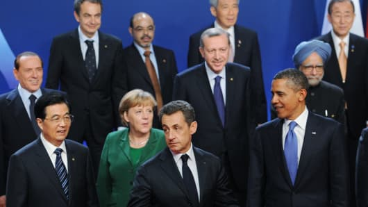A file photo of the G20 Summit in Cannes in the south of France in November 2011.