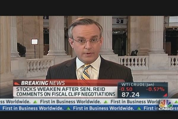 Sen. Reid: Little Progress on Recent Cliff Negotiations