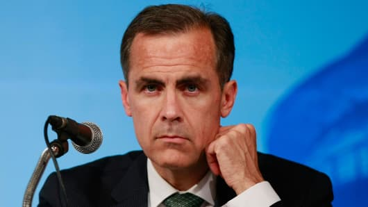 Incoming Bank of England Governor Mark Carney