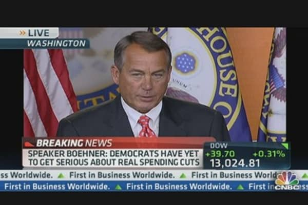 Boehner: 'No Substantive Progress' on 'Cliff'