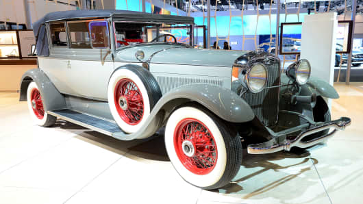 1929 Lincoln L Dietrich Convertible Coupe appears as part of Lincoln's Heritage On Display At Los Angeles Auto Show Press Day at Los Angeles Convention Center on November 28, 2012 in Los Angeles, California.