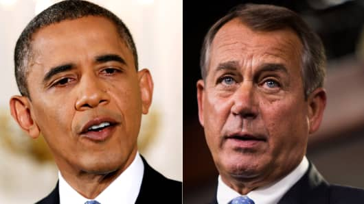 President Barack Obama and Speaker of the House John Boehner