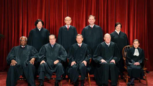 The U.S. Supreme Court Justices.