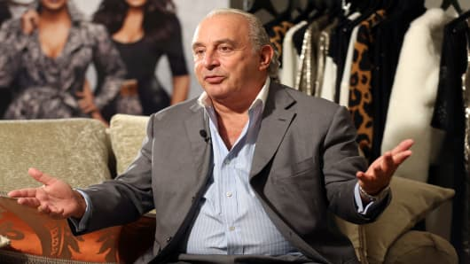 Philip Green, the billionaire owner of fashion retailer Arcadia Group Ltd