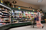 Customer shops at a Kroger Co. supermarket in Peoria, Illinois.