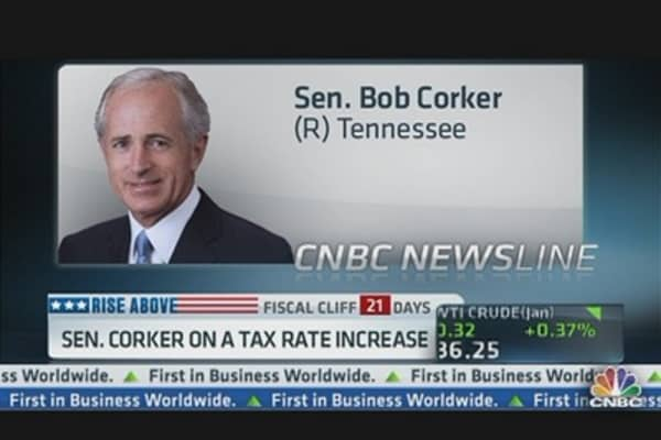 Sen. Corker: Holding Country Hostage on Taxes Not a Good Place To Be