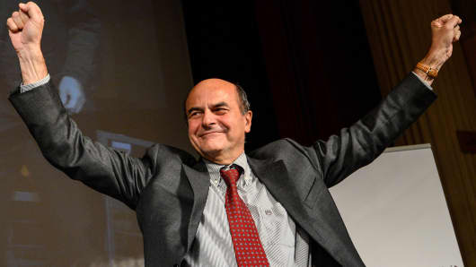 Pier Luigi Bersani, Democratic Party Leader.