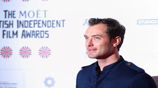 Jude Law attends the British Independent Film Awards at Old Billingsgate Market on December 9, 2012 in London, England