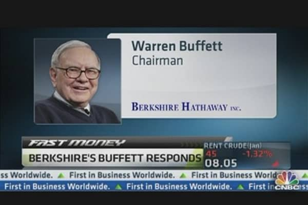 Berkshire's Buffett Responds to Kaminsky's Comments