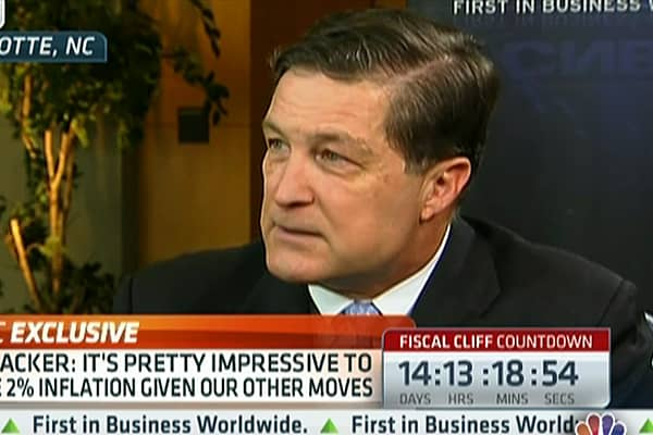 Fed's Lacker: Would Rather Have Qualitative Threshold, Not Numerical