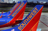 Southwest airplanes on the tarmac at the Fort Lauderdale-Hollywood International Airport.
