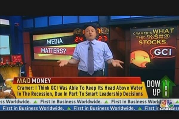 Cramer Shines Spotlight on Gannett