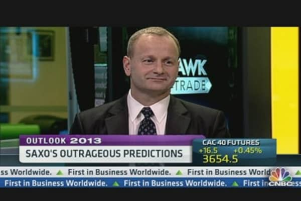Saxo's Outrageous 2013 Predictions