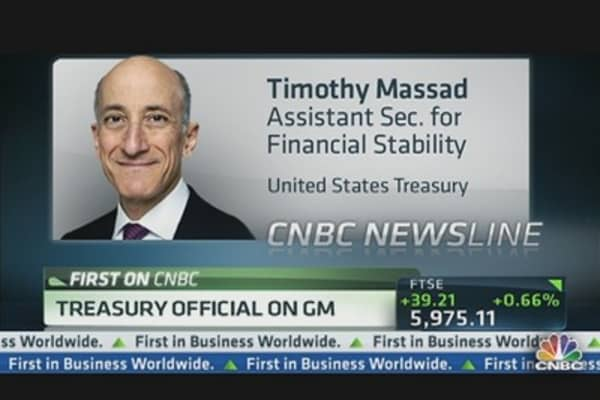 It's Official, Treasury Selling GM Stake