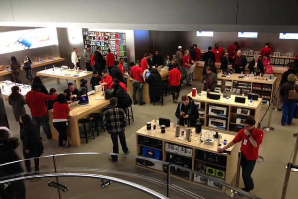 Yahoo! CEO Marissa Mayer's photo of 5th Avenue Apple Store in New York City.