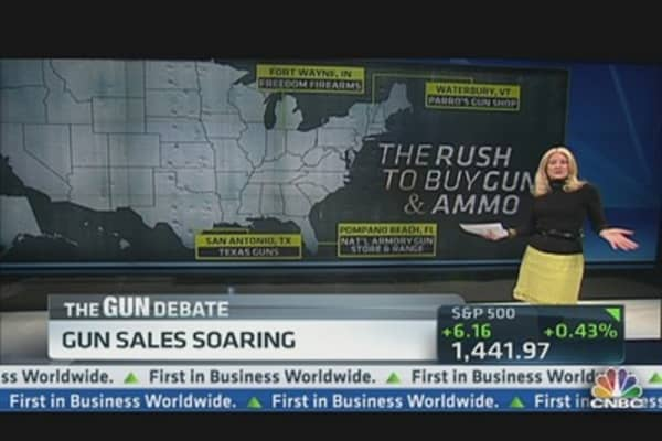 Gun Sales Increasing