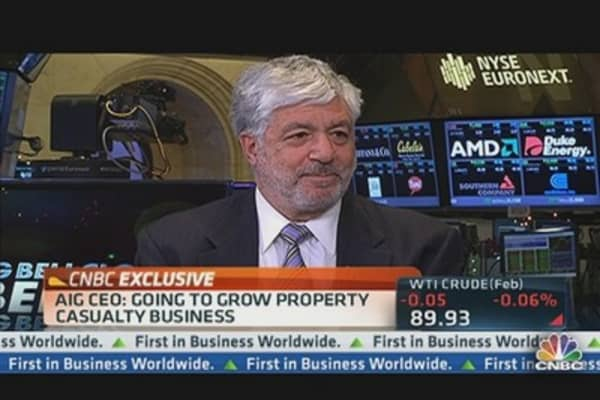 AIG's Benmosche Talks TARP Payback, AIA Sale