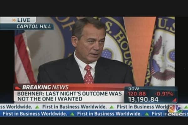 Boehner Address 'Fiscal Cliff' Negotiations