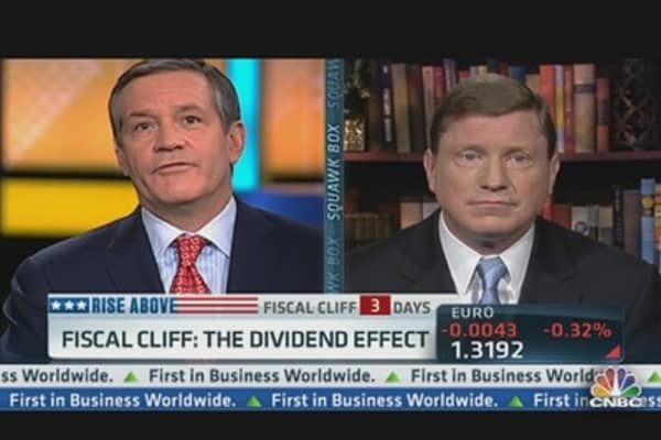 'Fiscal Cliff': The Dividend Effect