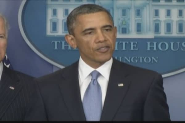 Pres. Obama Discusses 'Cliff' Vote