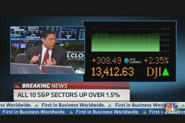 Stocks Surge to Start 2013