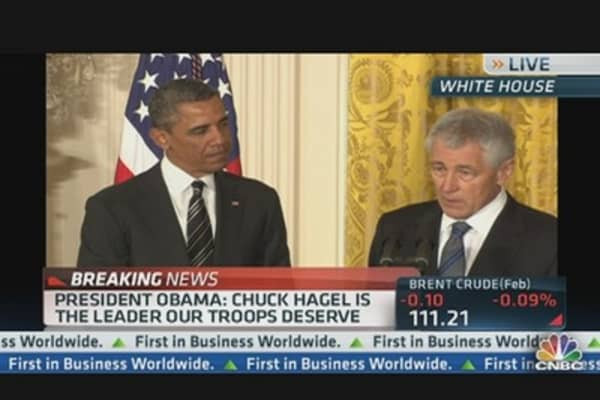 Hagel Accepts Nomination