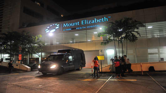 Singapore's Mount Elizabeth hospital, where the Indian gang rape victim succumbed to her injuries.