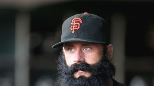 Brian Wilson of the San Francisco Giants.