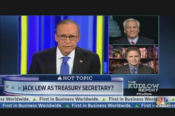 Jack Lew as Treasury Secretary?