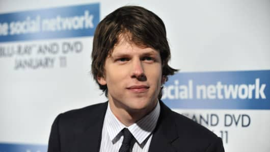 The Social Network star Jesse Eisenberg.