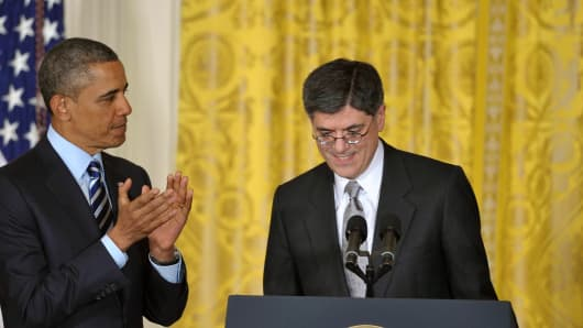 President Barack Obama nominates Jack Lew as the next Treasury Secretary.