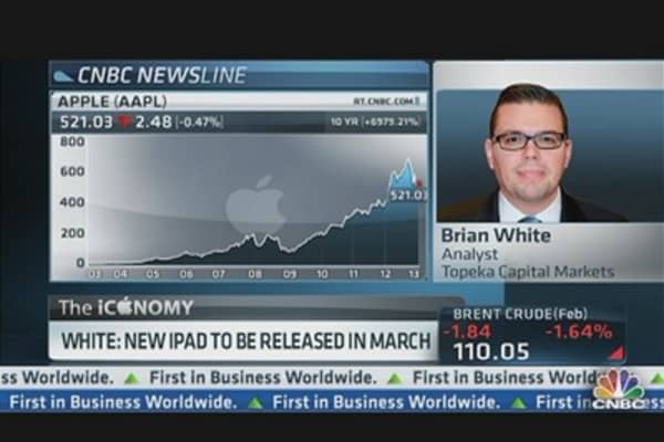 White: New iPad Released in March