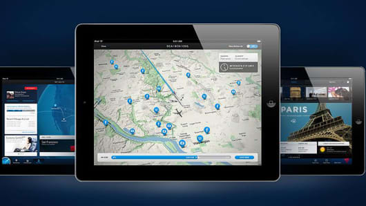 Delta Air Lines' Glass Bottom Jet iPad App Feature