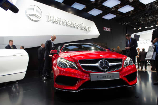 Mercedes-Benz E-Class Coup at the 2013 Detroit Auto Show.